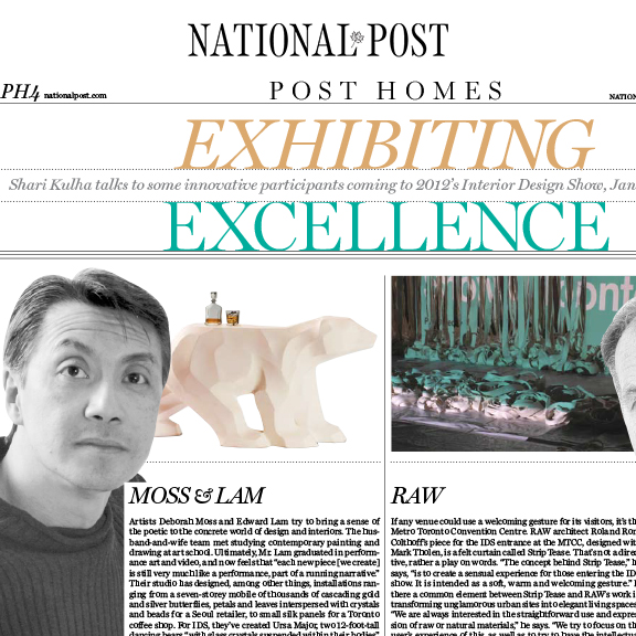National Post - January 2012Moss and Lam