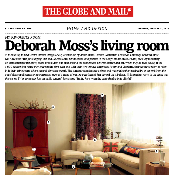 The Globe and Mail - January 2012Deborah Moss