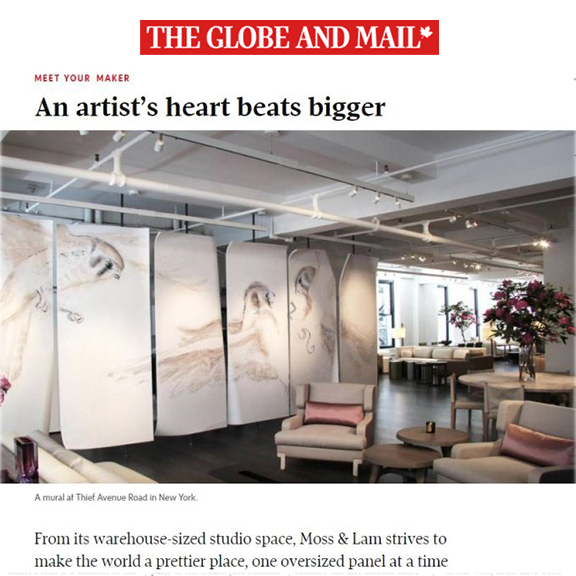 The Globe and Mail - February 2017An artist's heart beats bigger