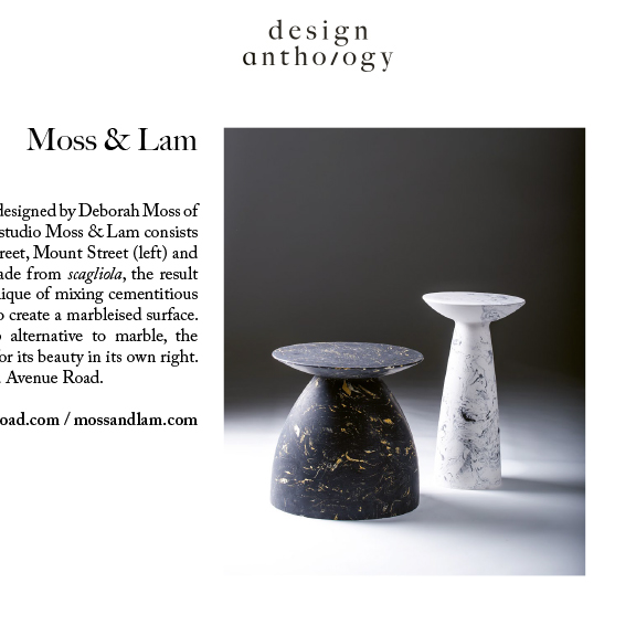 Design Anthology - Summer 2016W1 Tables - Moss & Lam