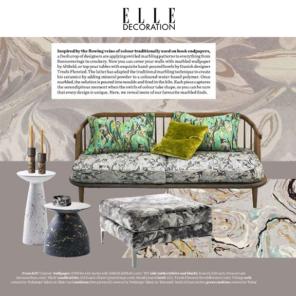 ELLE Decoration UK  - August 2016 Make it Marbled