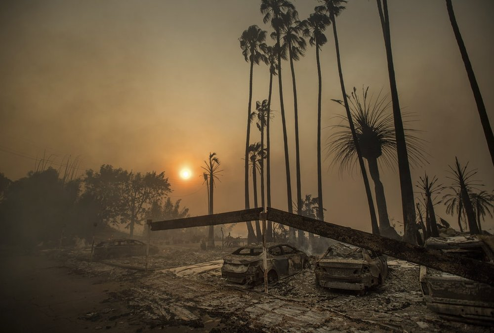 Ventura, CA - Aftermath of the Thomas Fire