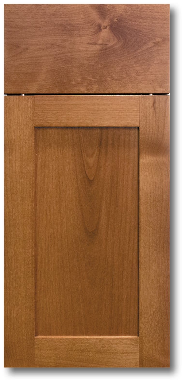 Kahala - Clear Alder with Chocolate Brandy Stain Wood Door