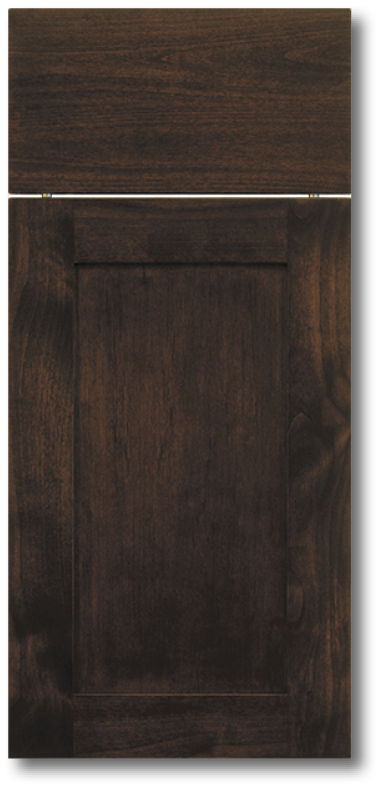 Kahala - Clear Alder with Espresso Stain Wood door