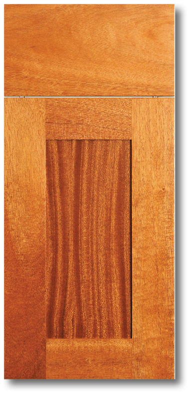 Kona - African Mahogany with clear varnish wood Door