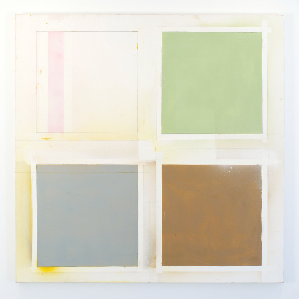 Larry Wolhandler, (Untitled), Oil on Canvas, 48 x 48 inches.