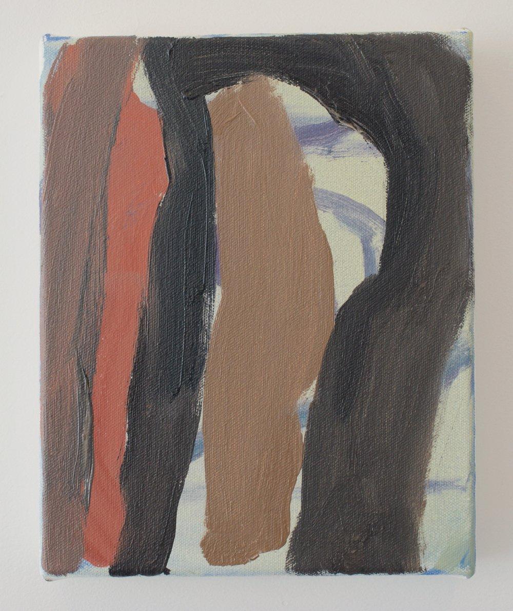 Virva Hinnemo, Stick Memory, 2015. Oil on Canvas, 10 x 8 inches.