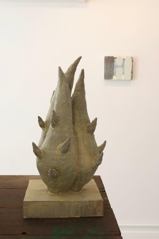 Peter Schlesinger, (Untitled), 2010. Glazed Stoneware Ceramic, 19 x 9 sq. inches.