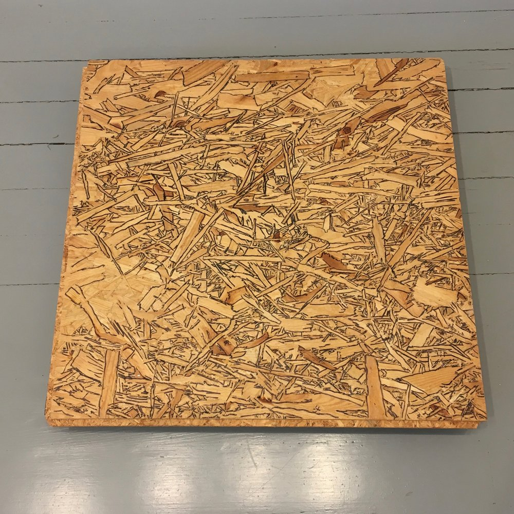 Untitled, 2010. 24 x 24 in., particle board and felt-tip pen