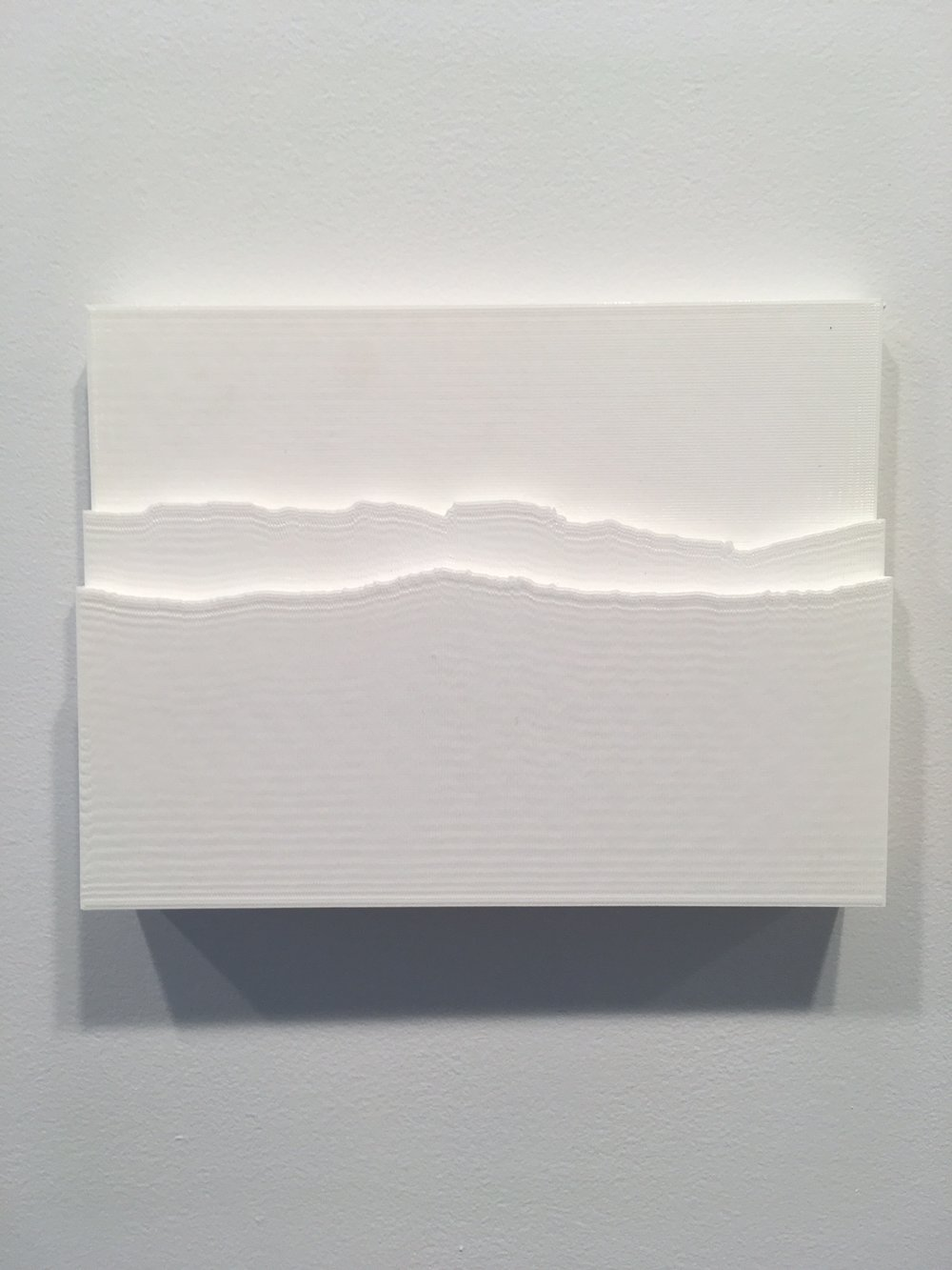 "Matt Frieburghaus, ""Cliff"", 2016. PLA Prints, 6x8x1 in."