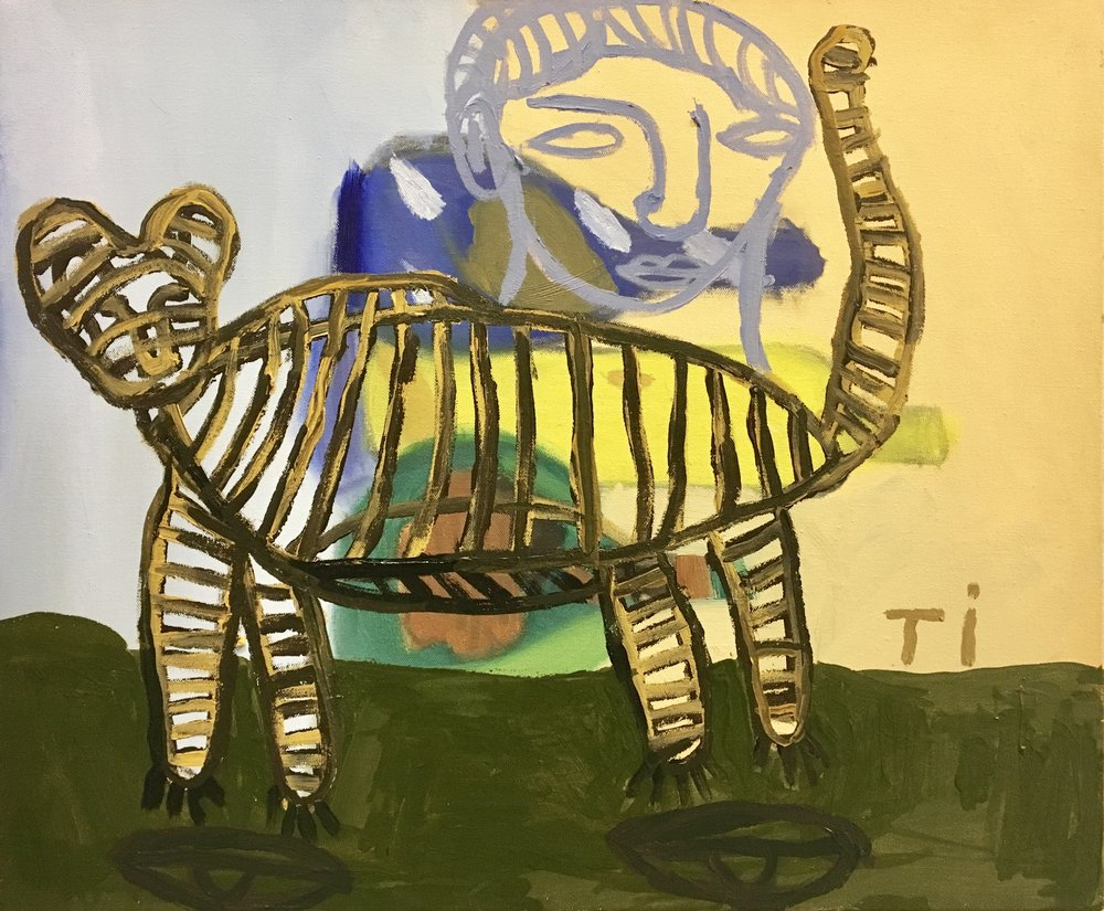 "Andrew Tarlow, ""Tigre"", 2016. Acrylic on canvas, 20x24 in."