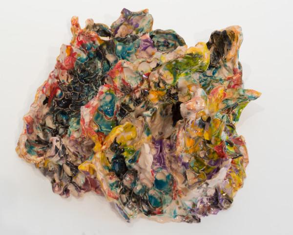 """Rob Ventura, """"Wiwaxia Corrugata"""", 2017. Ceramic, 16x15x5 1/2 in."""