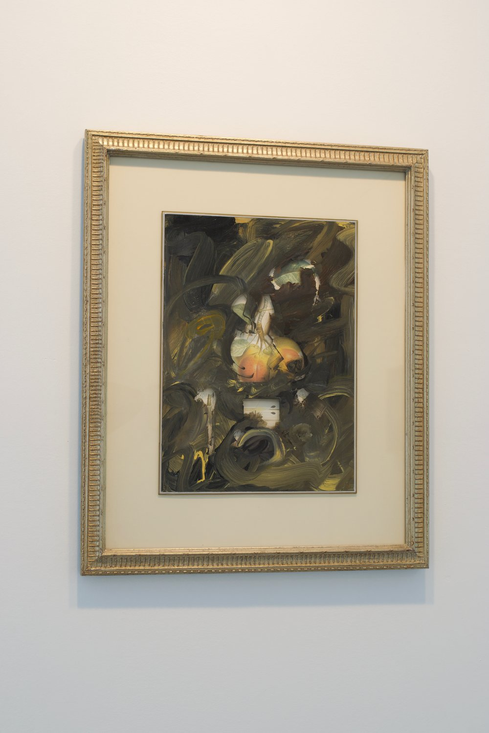 Mark Van Wagner, 2007. Acrylic on glass over botanical print, 22x18 in.