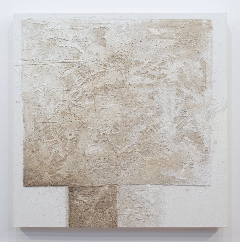 Mark Van Wagner, Sandbox II, 2016. Sand and acrylic on canvas, 36 x 36 in.