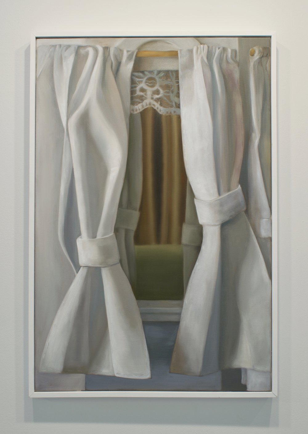 "Emily Quinn, ""Looking in/ Looking Out"", 2017. Oil on canvas, 37 x 25 in."
