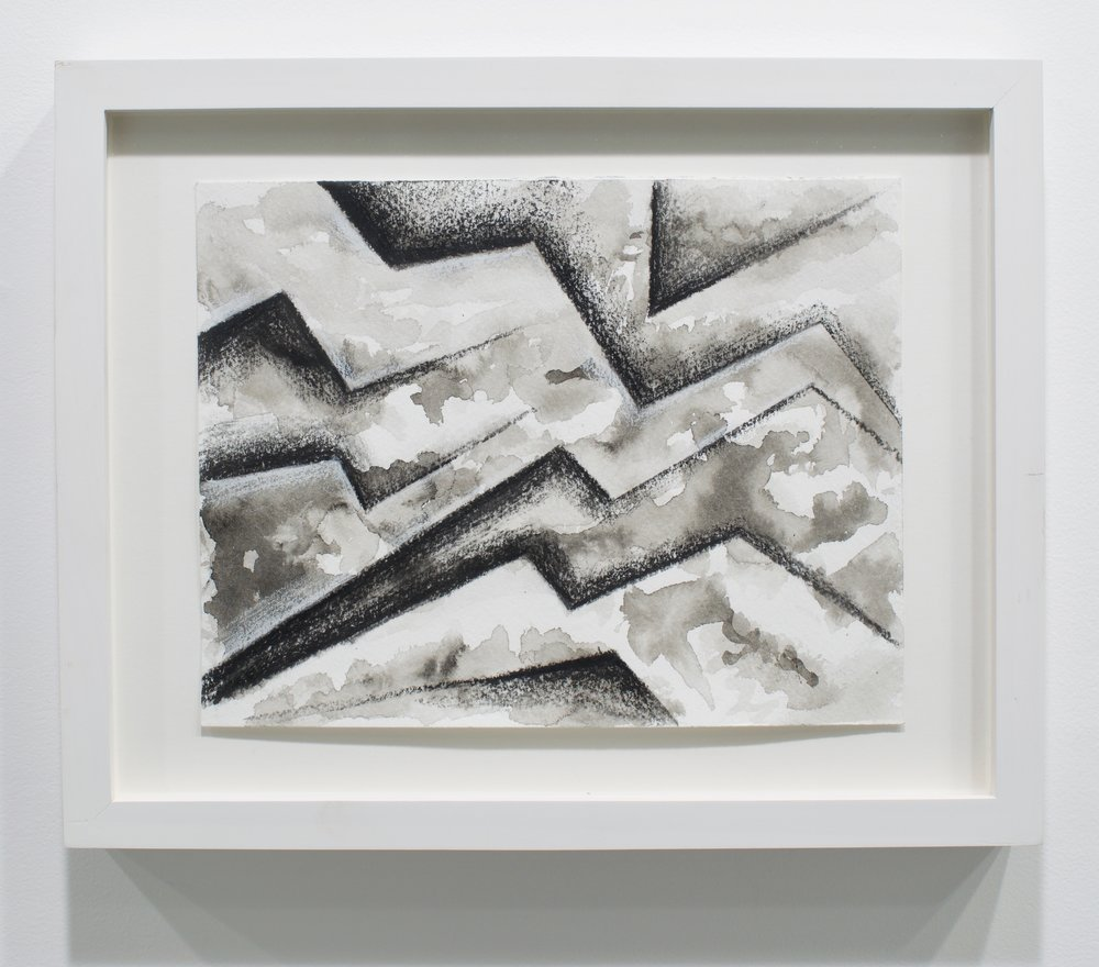 "Bert Benally, ""Untitled"", 2015. Charcoal, ink, pastel. 8 1/4 x 11 in. (framed)"