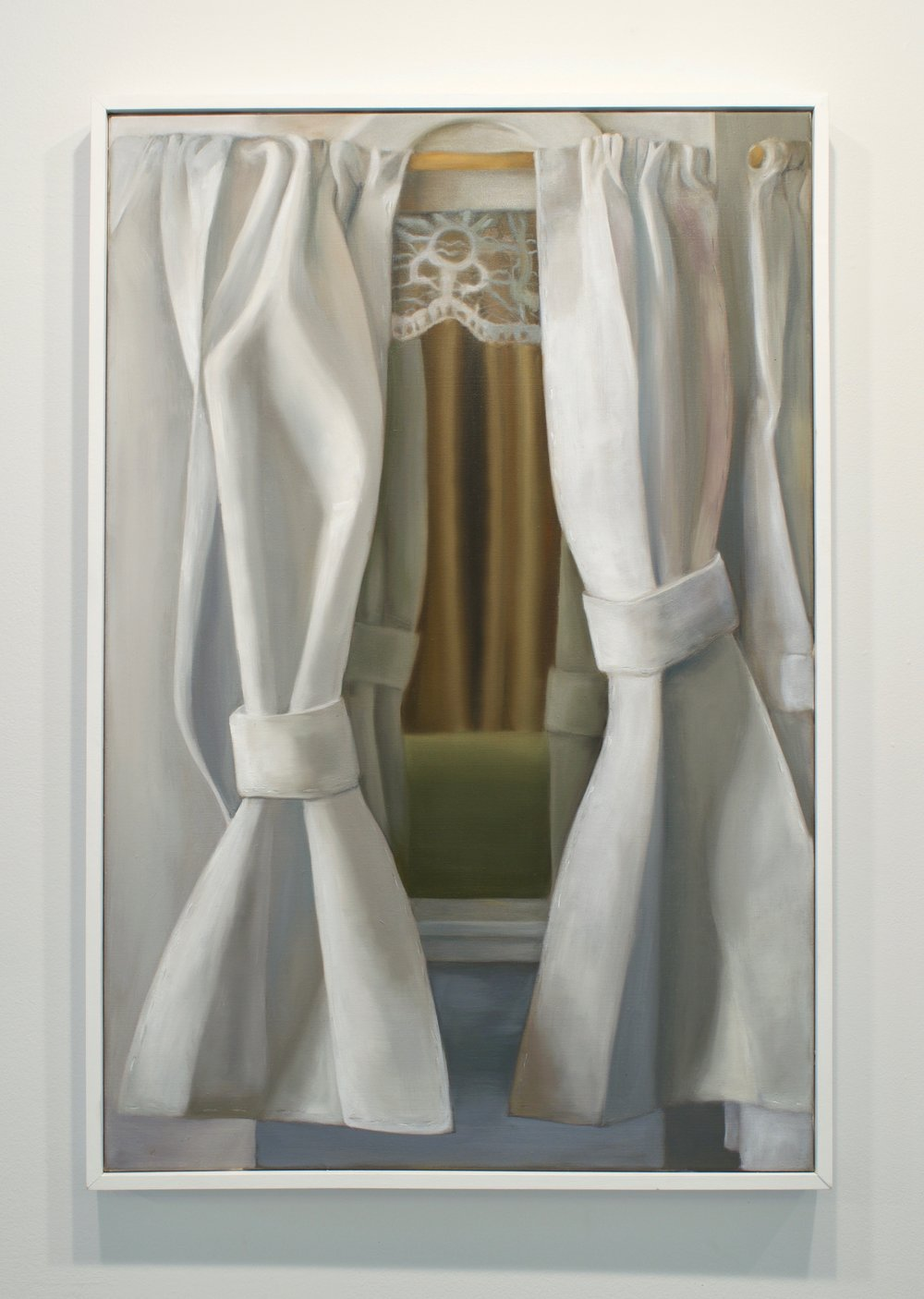 "Emily Quinn, ""Looking in/ Looking Out, 2017. Oil on canvas, 37x25 in."
