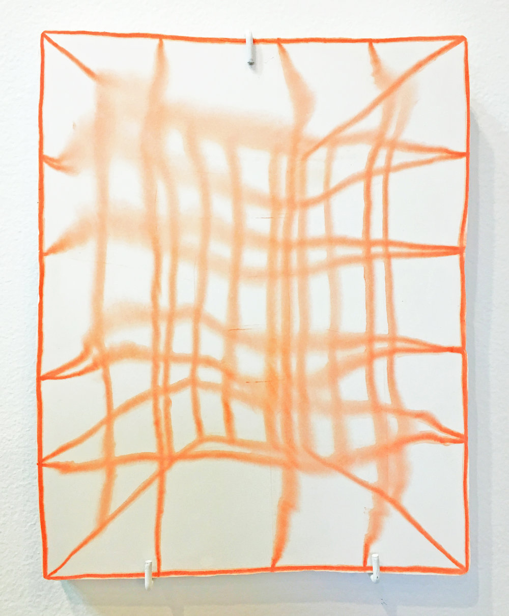 "Kieran Riley Abbott, ""Jungle Gym"", 2018. Monotype on hydrocal, 10x8 in."