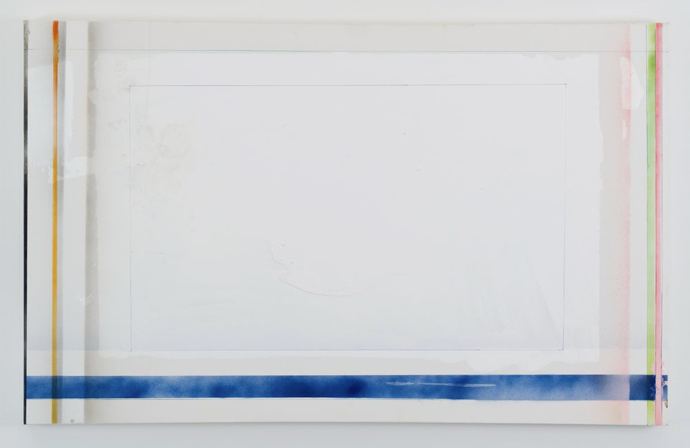 Larry Wolhandler, Glossy Giveaway, 2018. Oil, acrylic, pen, pencil on canvas. 30x48 in.
