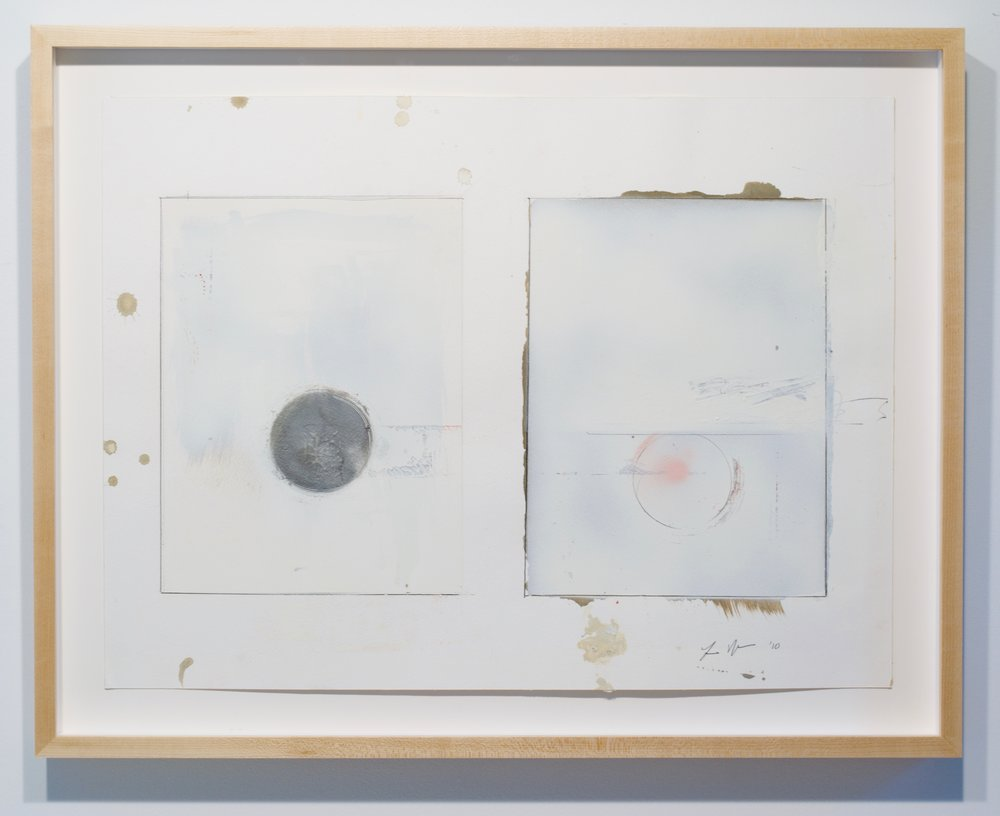 Larry Wolhandler, Untitled, 2010. Oil, acrylic, pen, pencil on paper. 22x28 in. (framed)