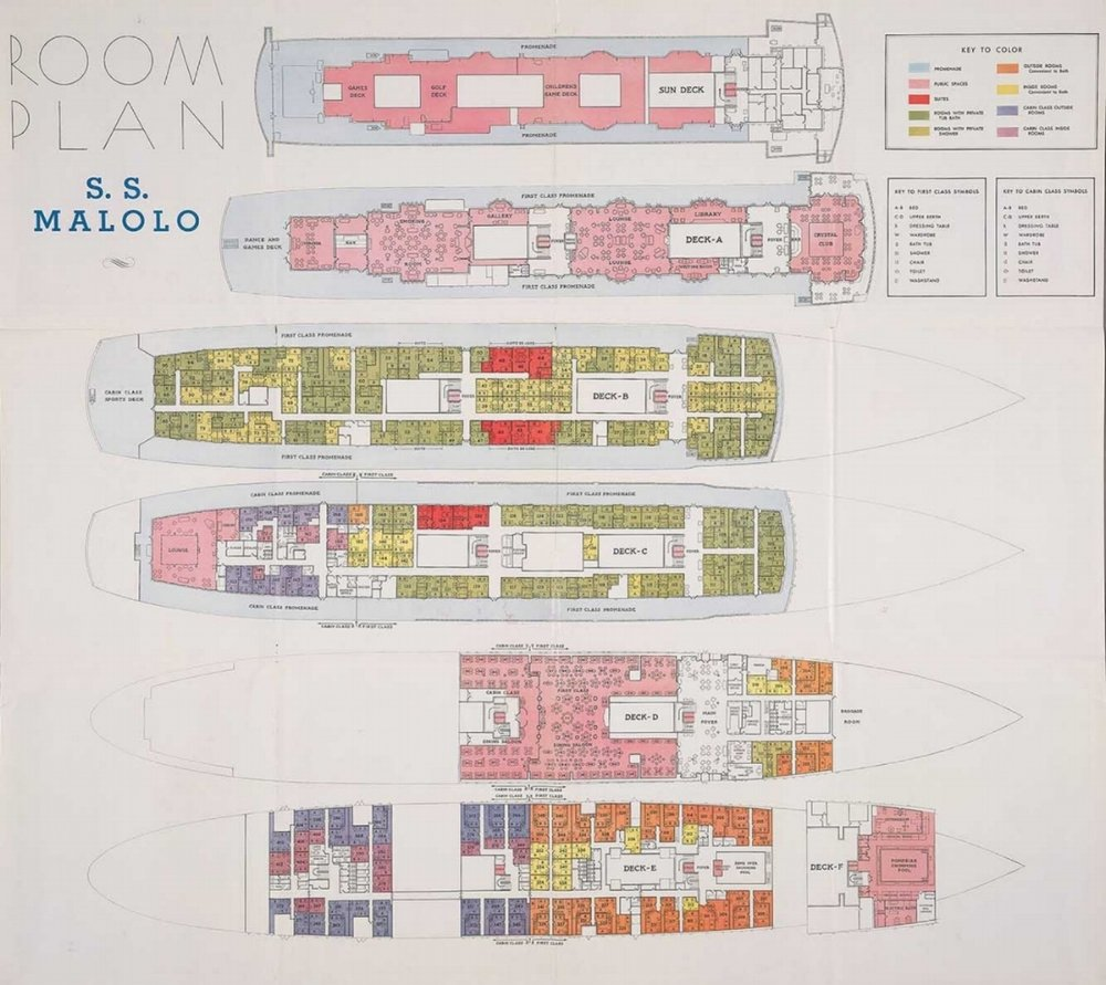 Pick-out your room from the Deck Plan above.    Then take a tour around the ship