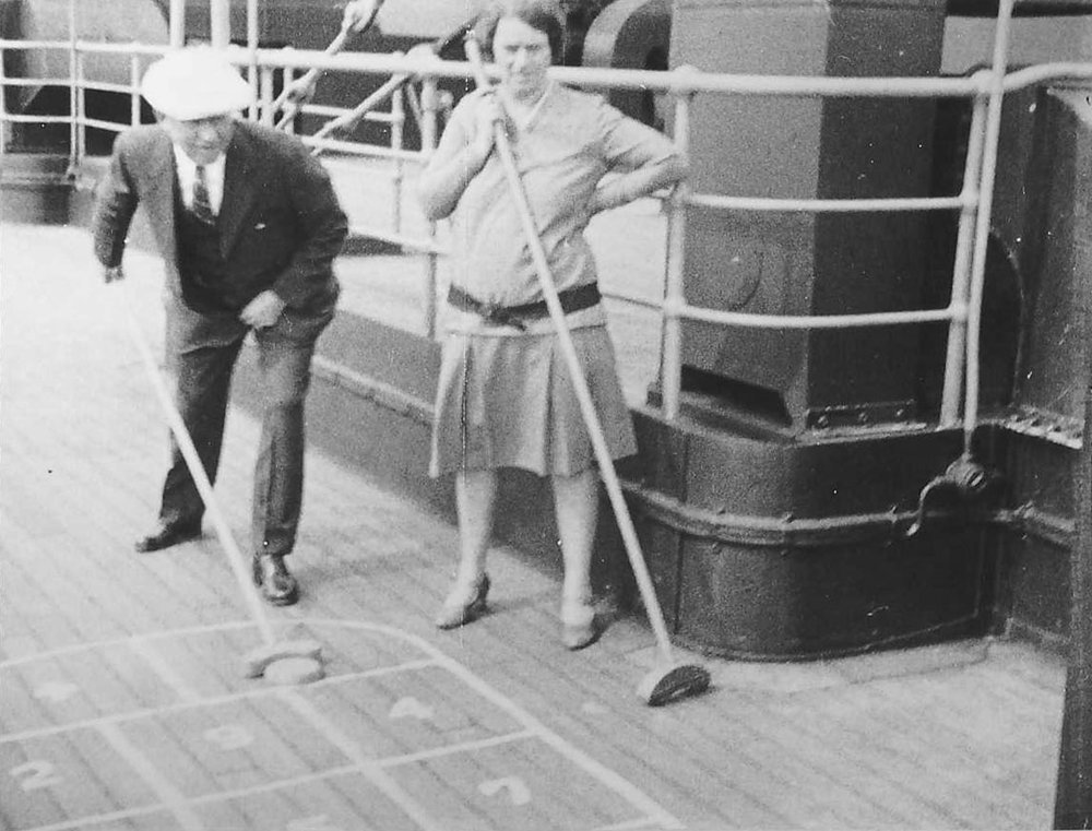 Fred and Edna Suhr Shuffleboarding