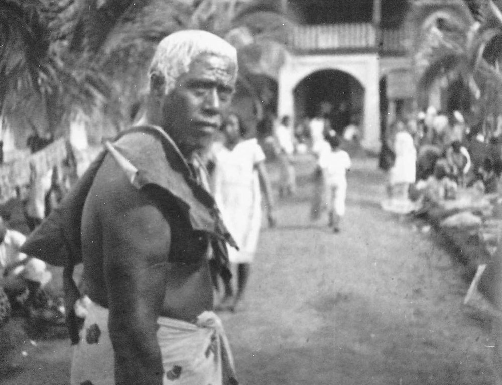 A Samoan Chief in Pango Pango