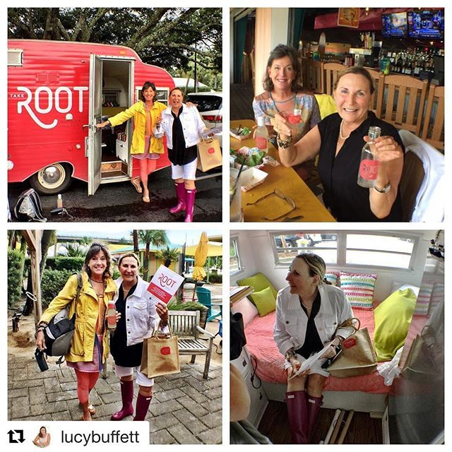 thanks for the shoutout Lucy B! 😘  Had a wonderful visit with my friend Anna Luce who brought the Root to LuLu's today. It's delicious Ginger Water, an amazing story, and a really fun concept! It's #AlabamaMade and healthy. I absolutely love it! How cute is that Scout trailer?!? #TakeRoot #WomenInBusiness #GumboLove @rootgw