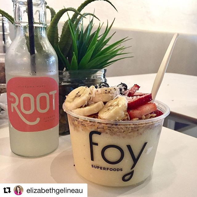 Thanks to super foodphotog Elizabeth Gelineau for lovin' our super gingerwater!  #shoutout #repost #fountainofyouth #superfoods #superretailer #rootgingerwater #sipit #mixit #loveit #local #alabamamade #takeroot