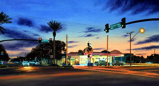 Central Avenue at Dusk by John Bayalis