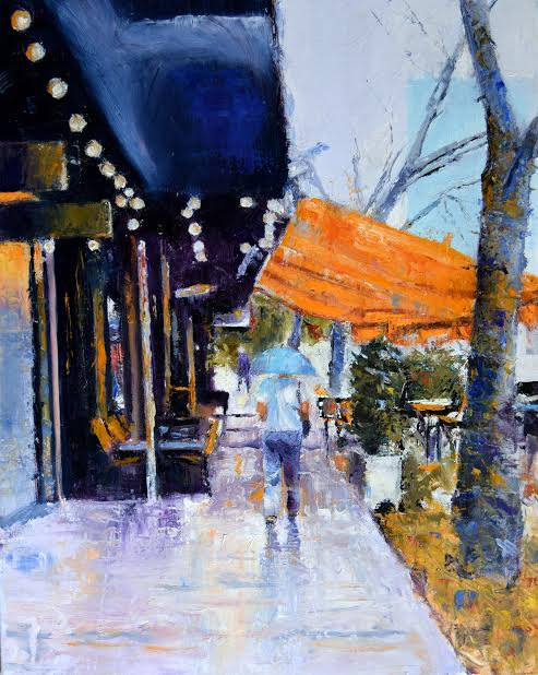Rain on Central by Margaret Bayalis