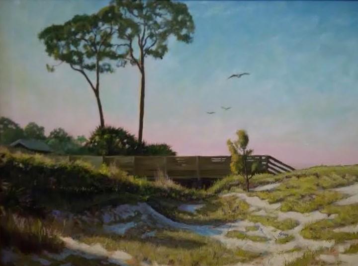 Walkway to Venice Beach by Charles Gray