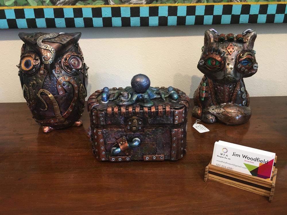 Assorted Steampunk Art Pieces