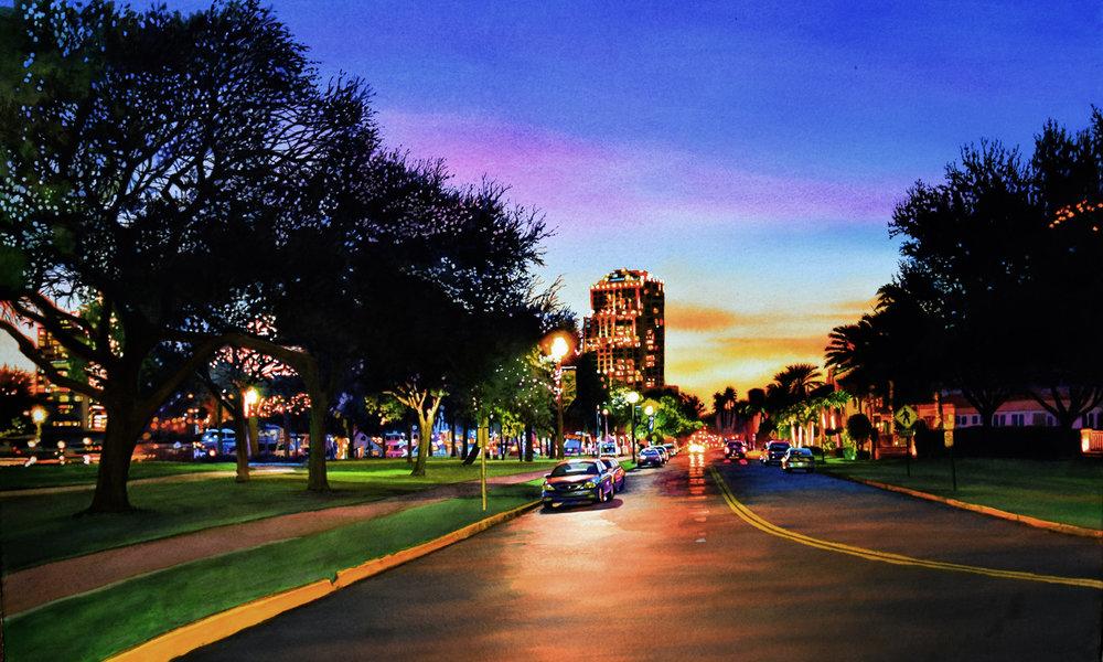 John Bayalis Beach Drive at Sunset.jpg