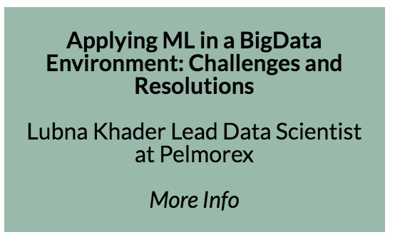 Challenges with applying ML in a high-transaction Big Data environment  Pelmorex is a leading mobile advertising company in the Canadian market. We have built a large ad serving platform that we use to enable our clients to advertise the right service/product to the right person. Our platform handles up to 100K ad auctions per second, and tries to make the best bidding decision for each of these to meet many business constraints and optimize many metrics, and in this process it generates ~6TB of data a day. We heavily rely on Machine Learning to guide our decisions in real-time, based on knowledge derived from the huge datasets that our bidding processes generate. When universities teach Machine Learning, they usually cover the most popular algorithms, the math and logic behind them, when they are best used etc. and they hand students packaged and prepared datasets to apply the algorithms on. All of this is great, but after working for 4.5 years on Machine learning/ Big Data projects, I found there is so much more to the application of ML than what I was taught. Finding an algorithm that works well for a prepared sample set takes a small fraction of the time needed to solve the real problem in a production environment. Many popular algorithms break when the data grows to the scale we are dealing with at Pelmorex, at that point, we had to explore different approaches to tweak the algorithm, or switch the algorithm completely sacrificing performance in favour of a simpler and lighter one. In other cases, the algorithm itself wasn't the bottleneck, but rather acquiring the necessary training data, or storage of the results or intermediary data. Big Data has introduced various challenges to how traditional systems work, and it is not trivial to use ML with Big Data. In my talk, I will discuss the challenges my team and I have faced with the application of ML at Pelmorex, will go through some techniques we've used to go around these challenges, and will emphasize the tradeoffs that need to be made when managing an ML project. This information will help data science practitioners shift their perspectives from focussing on the most trending ML algorithms to rather paying attention to the applicability of suitable algorithms and manipulating them to make them work in a real life scenario.