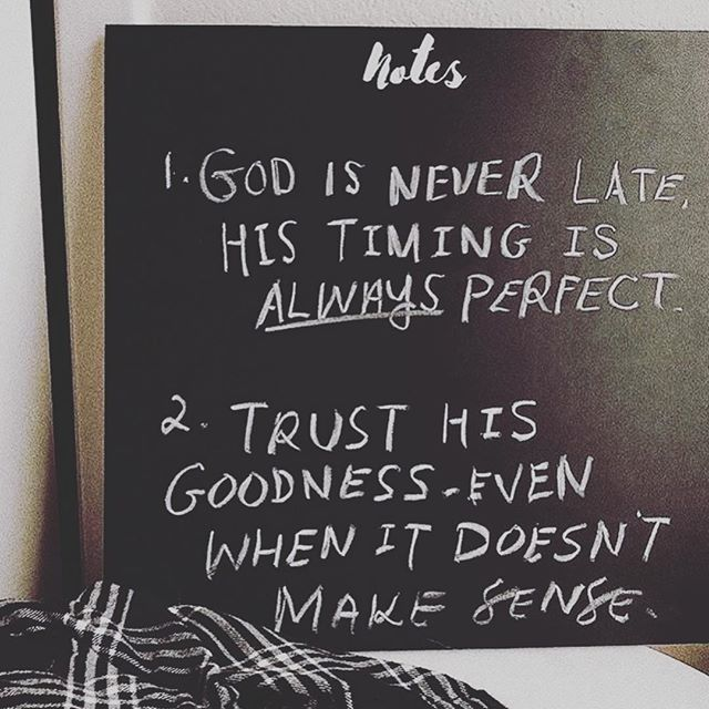 Ladies we LOVE @jenessawait GO FOLLOW her now👏🏼👏🏼👏🏼 1. God is never late! What I mean by that is we have to let go of our timelines and trust that He opens the door for us exactly when it needs to be opened. We can't miss it when we are walking with Him with a surrendered heart🙏🏼 2. Things won't always make sense, and trying to figure it out shouldn't be our focus. Trusting that He is good regardless of how we feel is important. Feelings can lie, but God is constant❤️ #preachit #illustratedfaith #truth #heisgood #allthetime #gritandgrace #propelwomen #empoweredwomenempowerwomen #womenintheword #shereadstruth