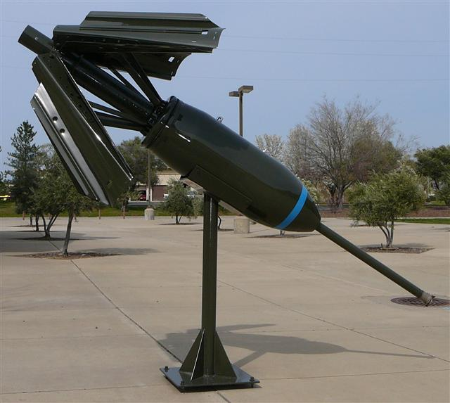 This is the bomb display stand that I made in the early nineties for the AMMO school after they came to Beale AFB.