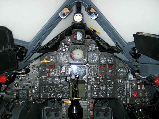 This photo shows the SR-71 Simulator