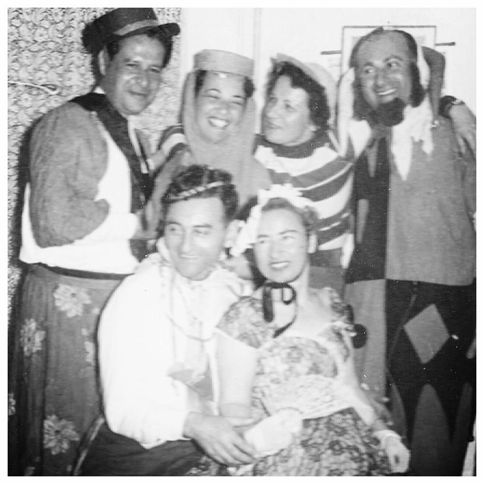 Eva dressed up for Purim. Israel c. 1953