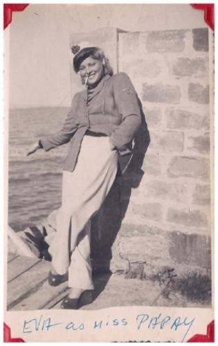 Eva as Aryanka Papay c. 1945