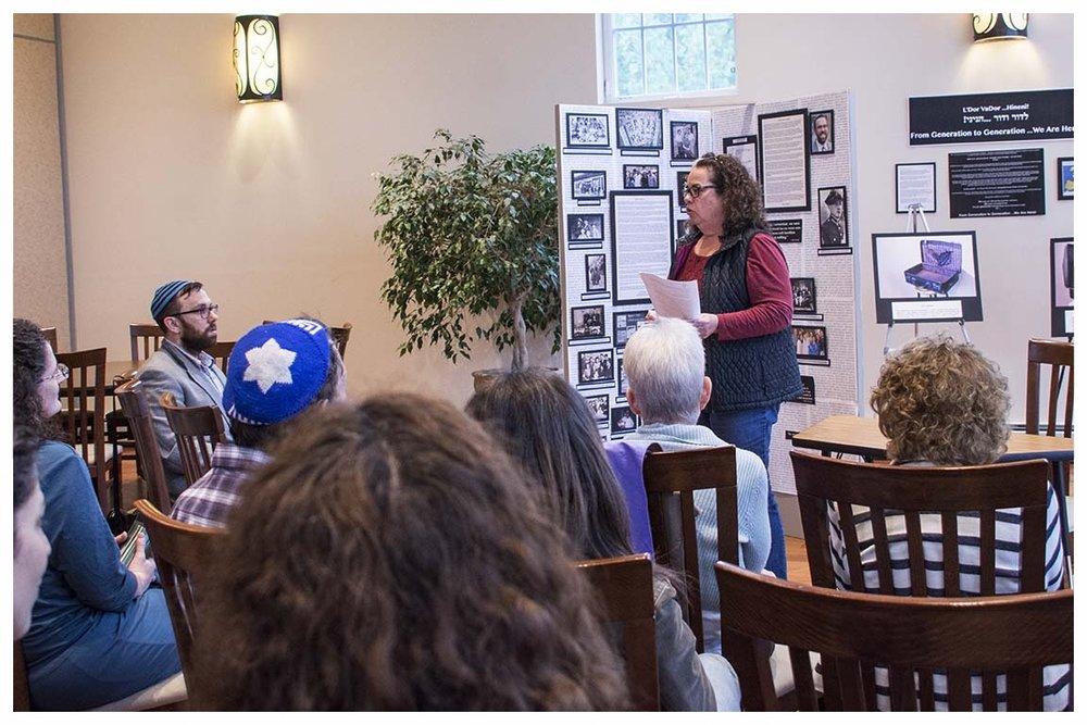 Debbie Steinerman speaking to a group