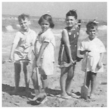 Ralph, Martin & cousin Jack at Zandvoort Beach - 1937