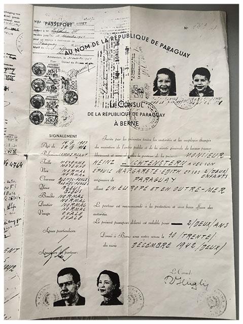 Heinz's passport