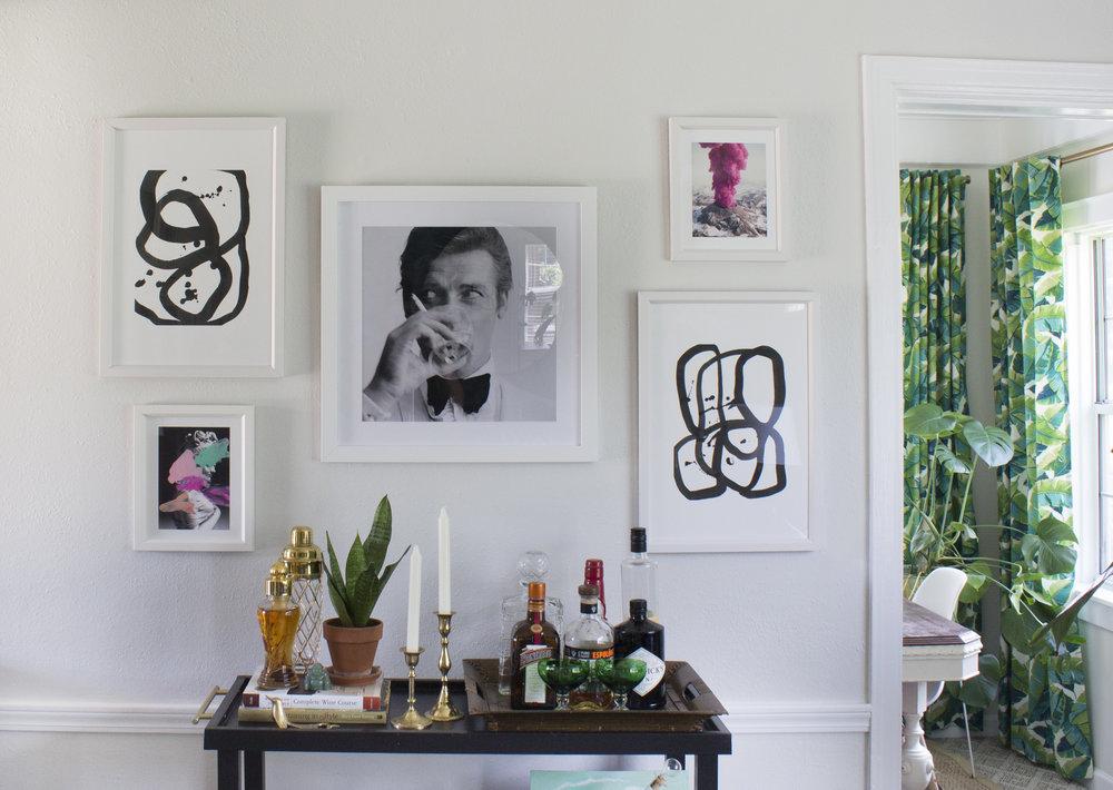 Bohemian Eclectic Living Room // Jordan Interiors // Online Interior Design