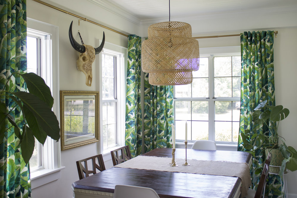 Bohemian Eclectic Dining Room // Jordan Interiors // Online Interior Design