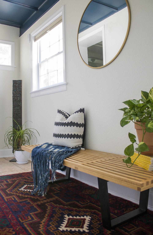 Bohemian Eclectic Entryway // Jordan Interiors // Online Interior Design