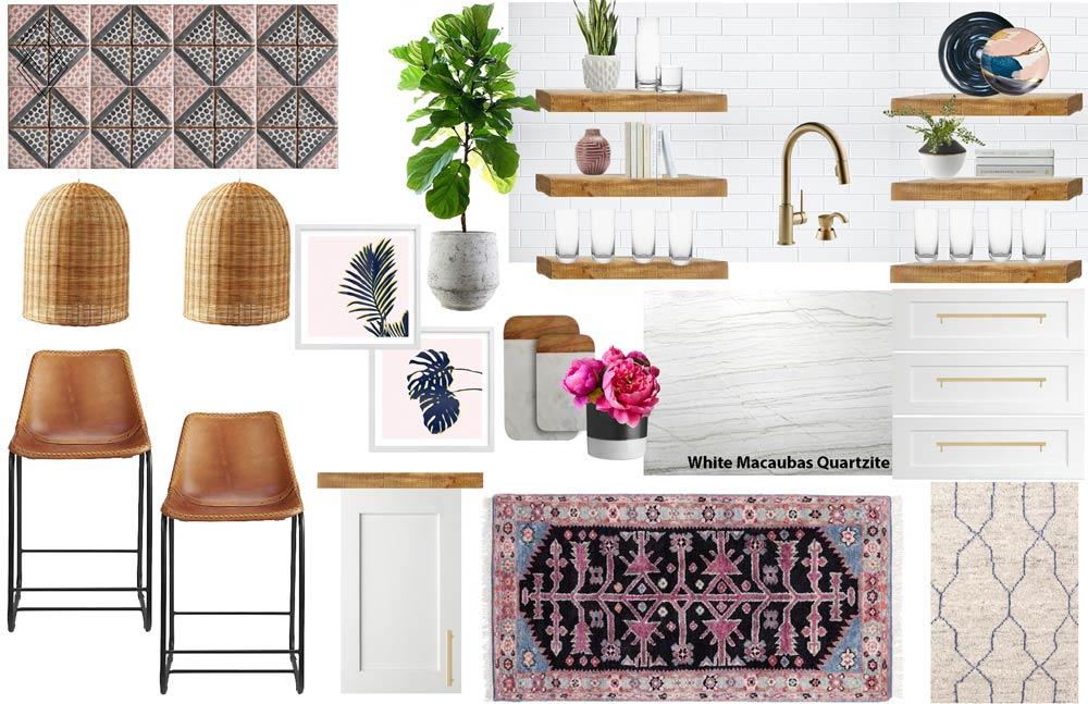 Modern Bohemian Kitchen Design // Jordan Interiors // Online Interior Design