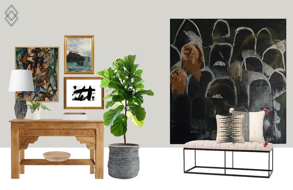 Modern Eclectic Entry Design // Jordan Interiors // Online Interior Design