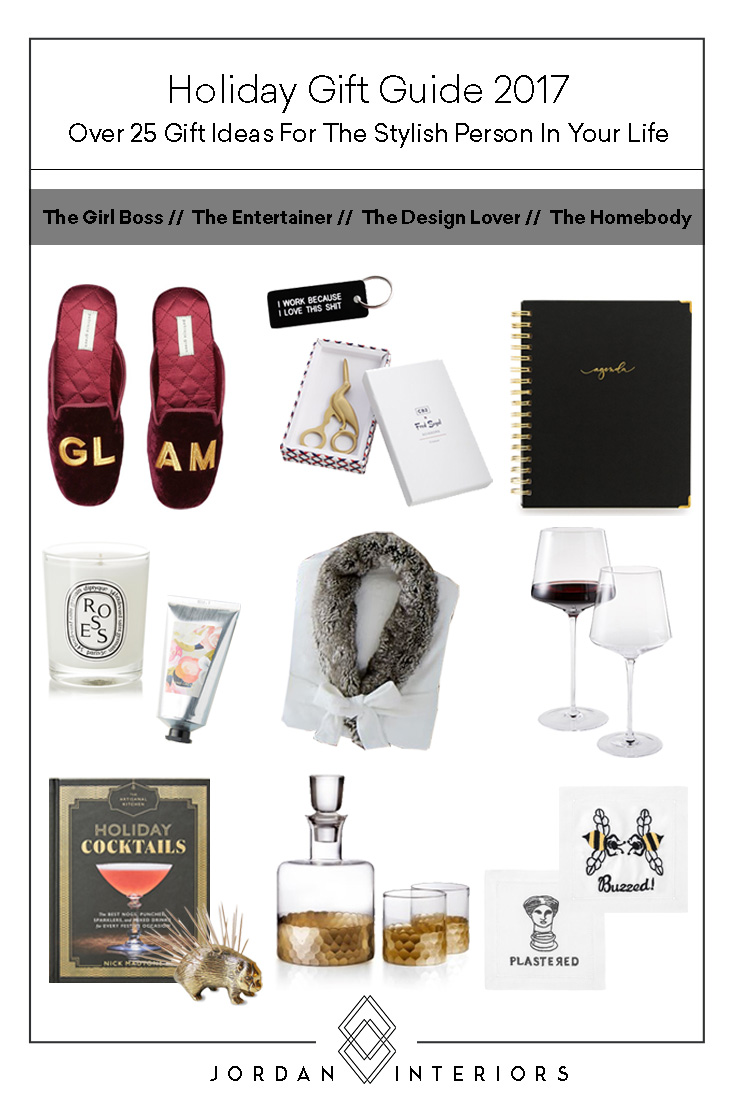 Jordan Interiors Holiday Gift Guide 2017