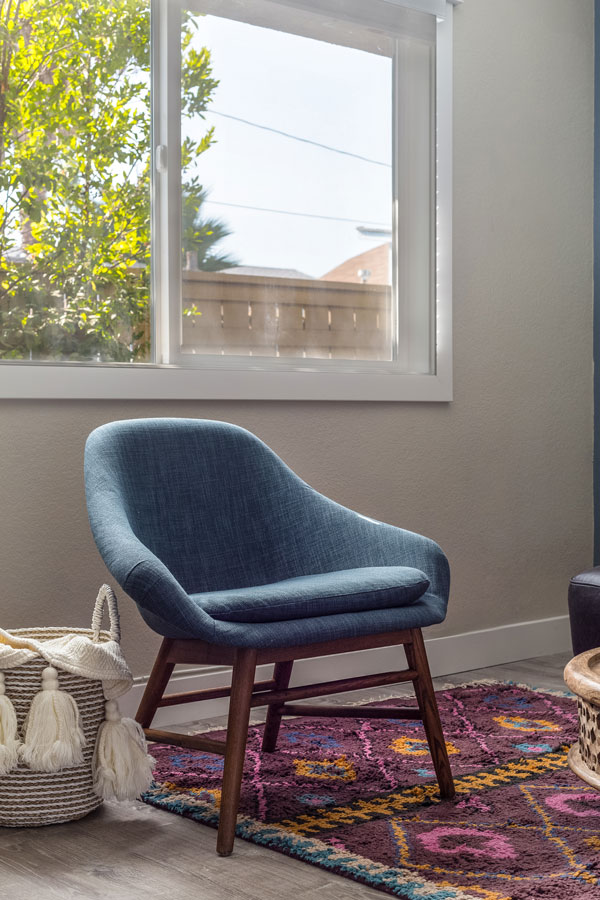 Jordan Interiors // San Diego Bright Boho Living Room Design